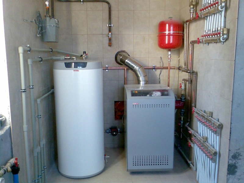 ...отопление частного дома газовый котел, водопровод в частном доме, отопление водоснабжение канализация коттеджа.