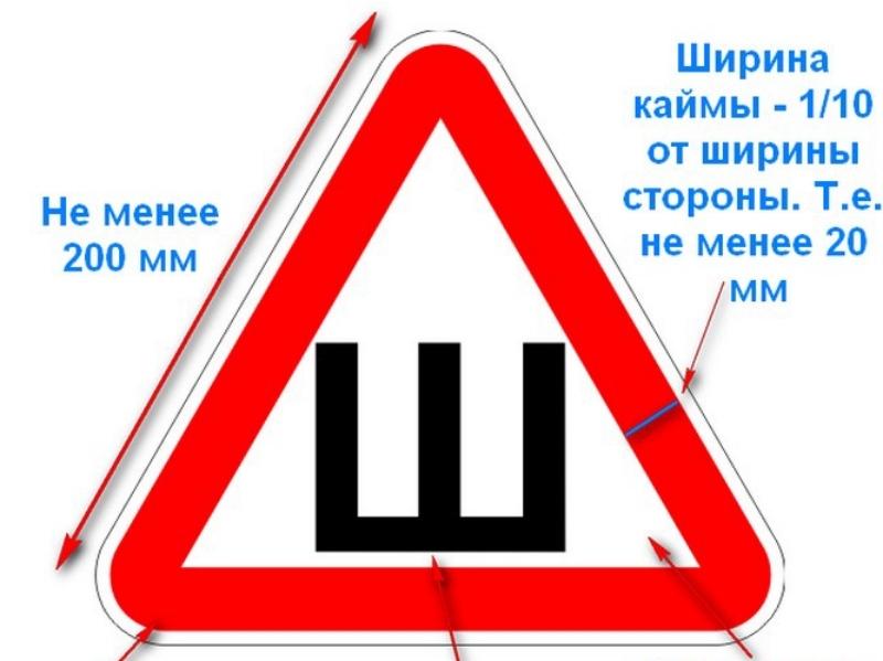Знак «Шипы» должен быть навсех автомобилях