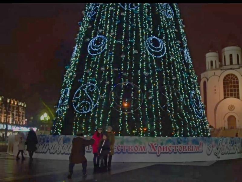 ВКалининграде неизвестные подожгли елку наплощади Победы