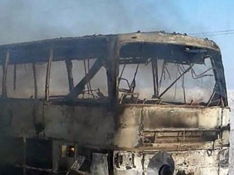 Первопричиной пожара вавтобусе вКазахстане стала паяльная лампа