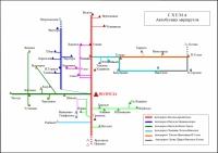 Карта автобусных маршрутов Вологодской области