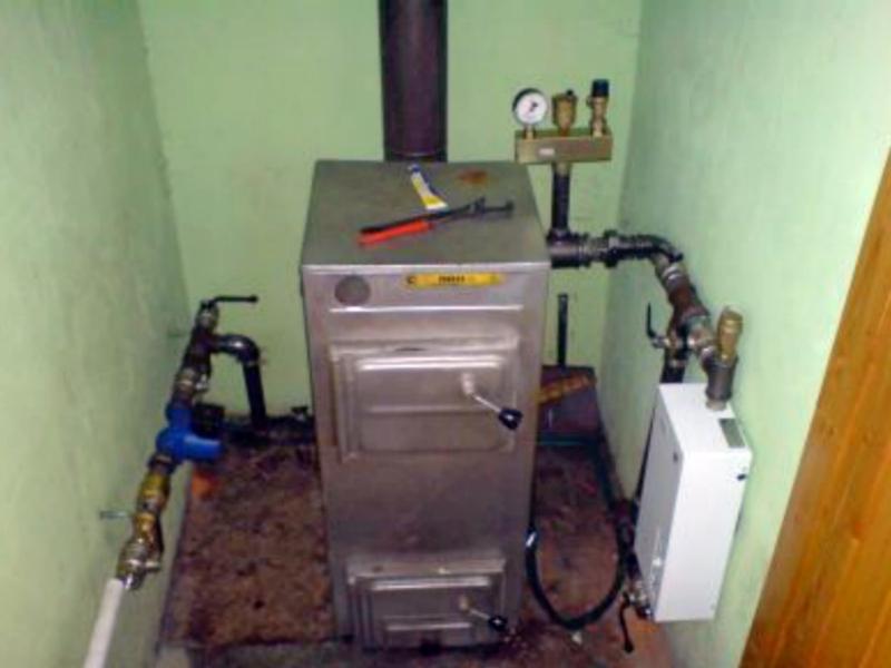 Отопление частного дома своими руками на твердом