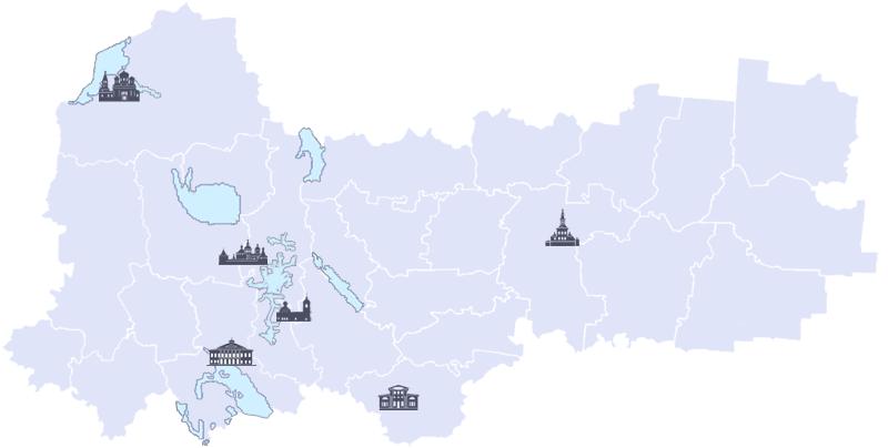 Карта Воологодской области